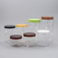 Different Capacity PET Food Airtight Stash Plastic Jar