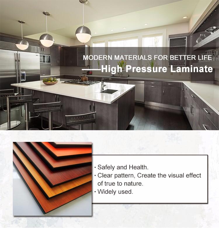 فورميكا صاج HPL 0.7 مللي متر ارتفاع ضغط صفح للمطبخ
