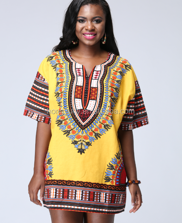 fb926baff787 Hot Sales Wholesale Summer Fashion African Ankara Wax Fabric Print Clothing  Women Dashiki MIni Dress 2019