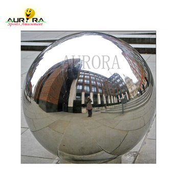 Silver Chrome Reflective PVC shiny Inflatable Mirror Ball large silver mirror balls inflatable hanging silver mirror ball