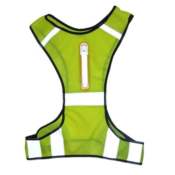 Reflective Safety Vest Jacket Night Cycling Running Traffic Safety Warning Vest with LED Lights