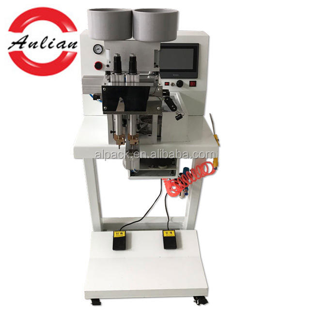 Double colour nail & pearl setting machine for shoe decoration and accessories