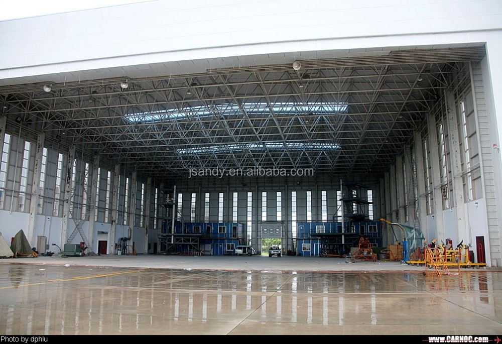 Prefab Long Span Steel Roof Truss For Aircraft Hangar
