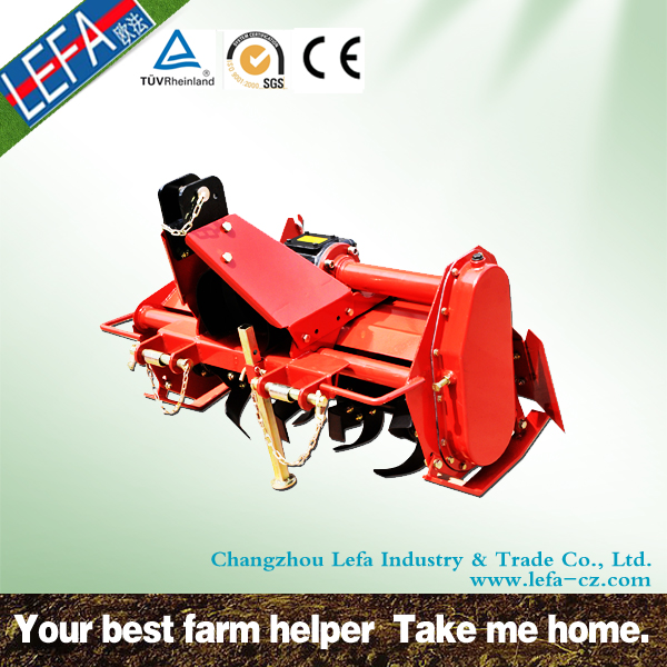 CE approved rotary ditcher/garden tiller for mini tractor use