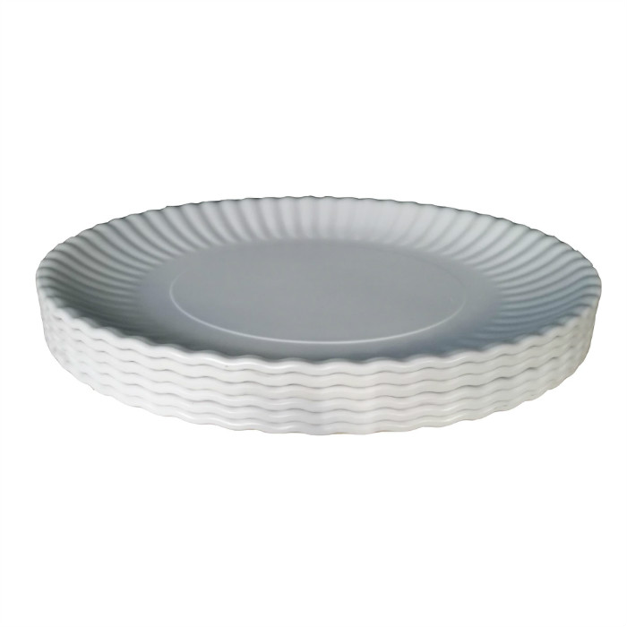 BPA free not for microwave unbreakable white plates serving dishes for catering food