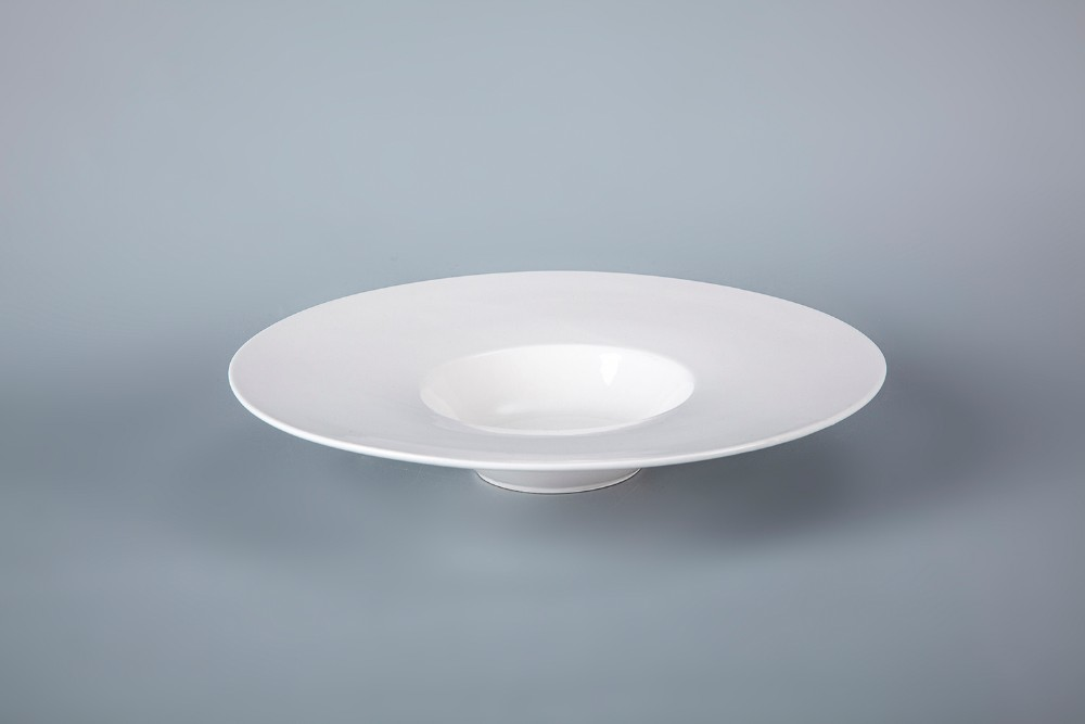 product-Two Eight-Royal Porcelain Plate SetDinnerware Hotel Plate Soup, Wide Rimmed Soup Bowls, Cera