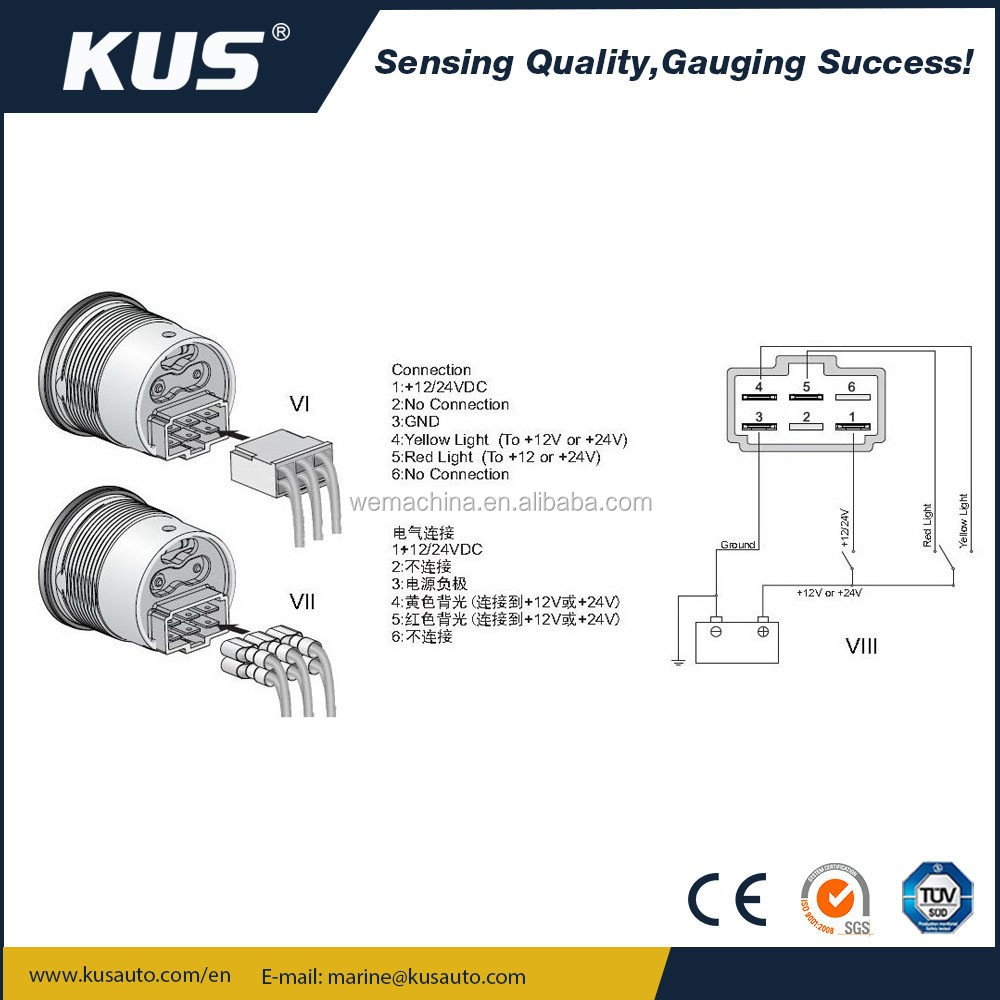 Kus Fuel Gauge Wiring Diagram Trusted Diagrams Marine Auto Electrical U2022 Meter