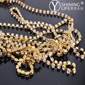 cup chain with pujiang glass rhinestone