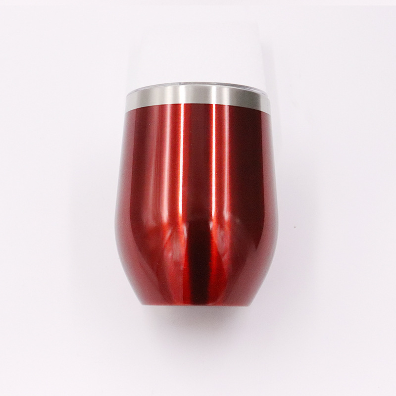 (Sample )stainless steel tumbler 12 oz egg shape wine beer tumbler cups powder paint double wall water bottle drinking cup