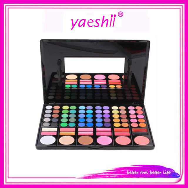 Yaeshii 78 Color Eyeshadow Palette Makeup Kit <strong>Set</strong> Make <strong>Up</strong> <strong>Box</strong> with Mirror
