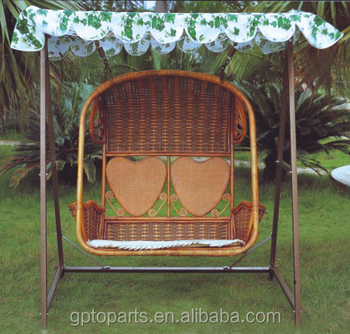 Real Rattan Chair Jhula Swing Jhoola Hanging Patio Furniture Garden