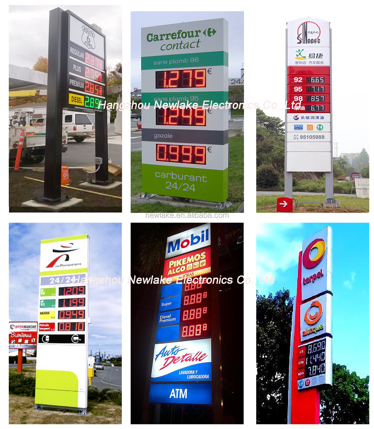 Hot sell green  led gas price sign    for gas pertol  station  led gas price display