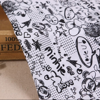 Customized recycled cotton fabric cotton grey fabric custom digital printing cotton muslin calico poplin fabric