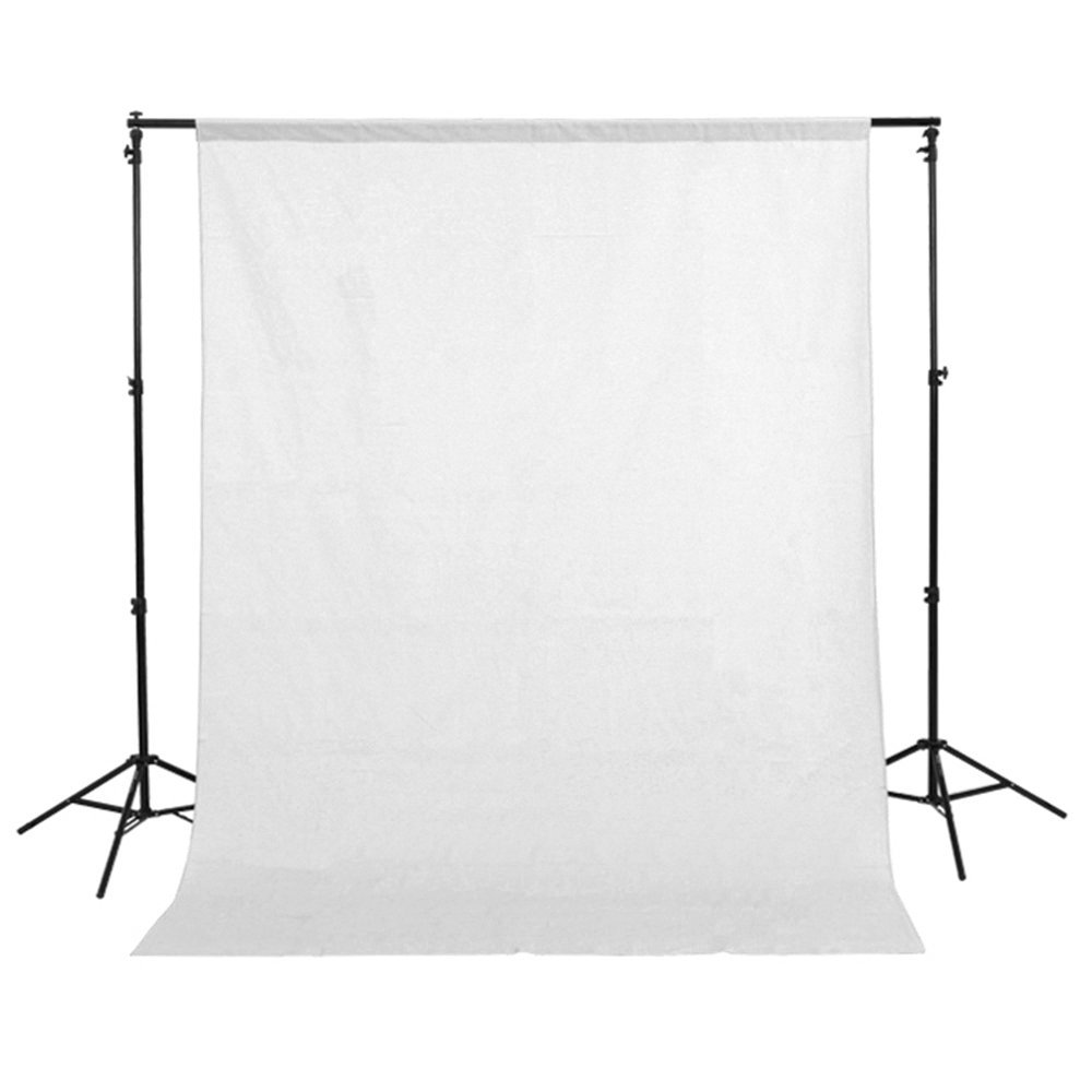 Fotga 1.5mx3m/5ft x10ft White Pure Cotton Muslin Photo Photography Backdrop Background