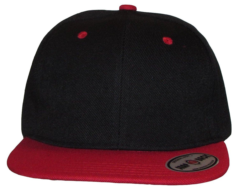 e9c36083dfd80 Buy NGH Premium Plain Two-Tone Flat Bill Snapback Hat - Baseball Cap ...