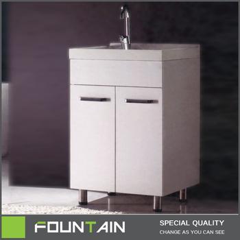 Eenvoudige Stijl Vrijstaande Witte Kast Voor Wasmachine Mdf Badkamer Wastafel Badkamermeubel Buy Mdf Badkamer Wastafel Kastvrijstaande Witte