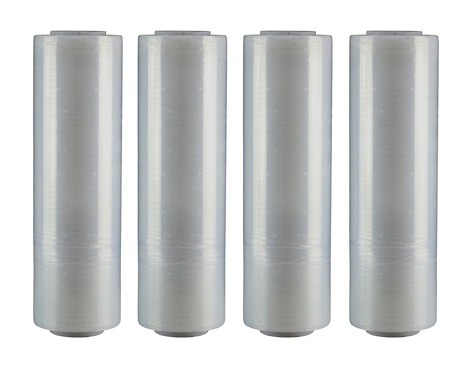 """AMERIQUE Shrink Wrap 4 Pack (6000FTX18"""", 39.8LBS Total): Stretch Film Plastic Wrap - Industrial Strength Hand Stretch Wrap, 18""""x 1,500 FT Per Roll, 80 Gauge Shrink Film / Pallet Wrap – Clear"""