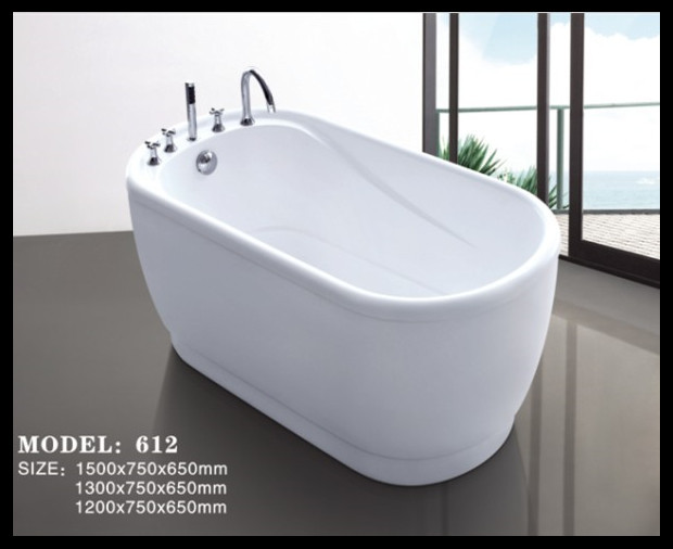 Small Size Colorful Free Standing Acrylic Baby Bathtub