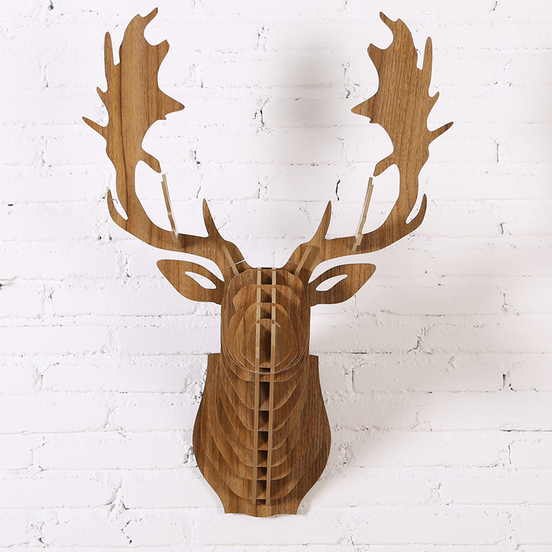buy nordico diy wooden deer head hanging wall decor europe