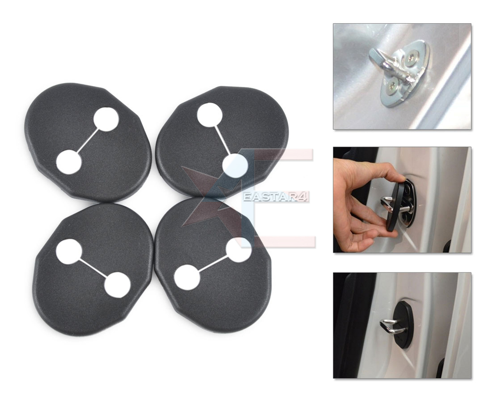 car door latch striker. Free Shipping \u0026 Tracking # New 4PCS Car Door Striker Cover Lock Protector Antirust Case Latch
