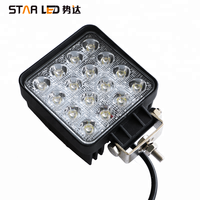 48w rectangle car led light square led work light for jeep/truck