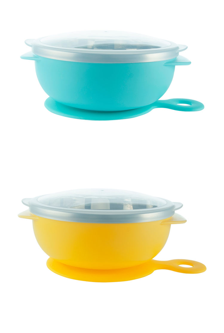 FDA Certified Amazon hot sale silicone no spill baby suction eating bowl set