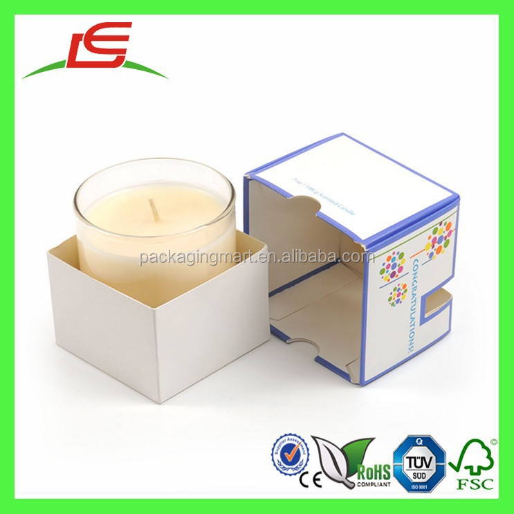 J088 Alibaba China Wholesale Handmade Square Paper Candle Box Packaging