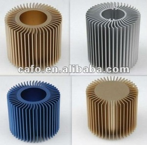High Quality Aluminum round extrusion fin heatsink with cool fan