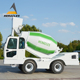 diesel engine self loading 3 cubic meters concrete mixer truck price
