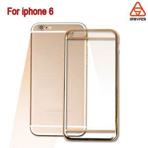 Colorful electroplate pc phone case for iphone 6, for Iphone 6 brushed PC electroplated metal hard back cover case