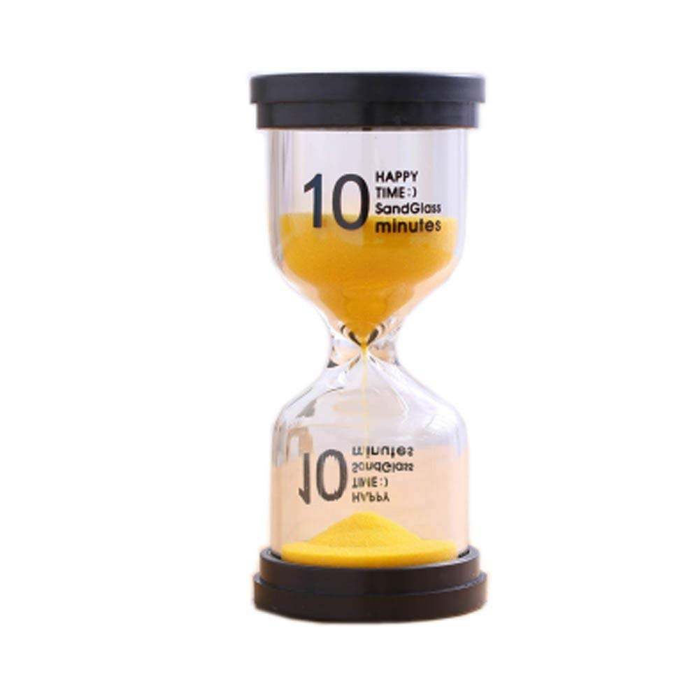 Blancho Bedding Colorful Sand Timer Hourglass Sandglass Small Ornaments Dropping Ueasily, 10 minutes +Yellow