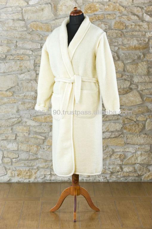 Mens Dressing Gown 100% Merino Wool Bath Robe Woolmark - Buy Robe ...