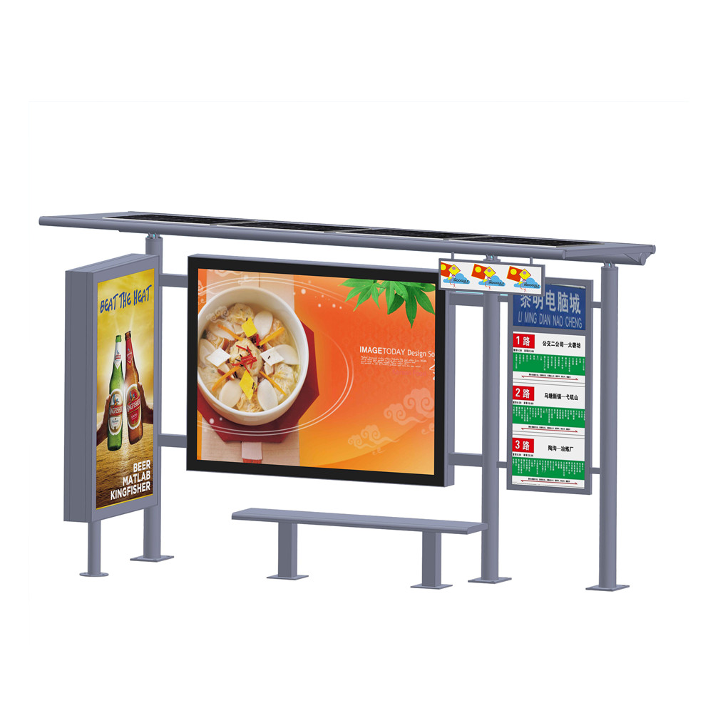 product-YEROO-City public modern Stainless steel structure bus stop shelter design-img-5