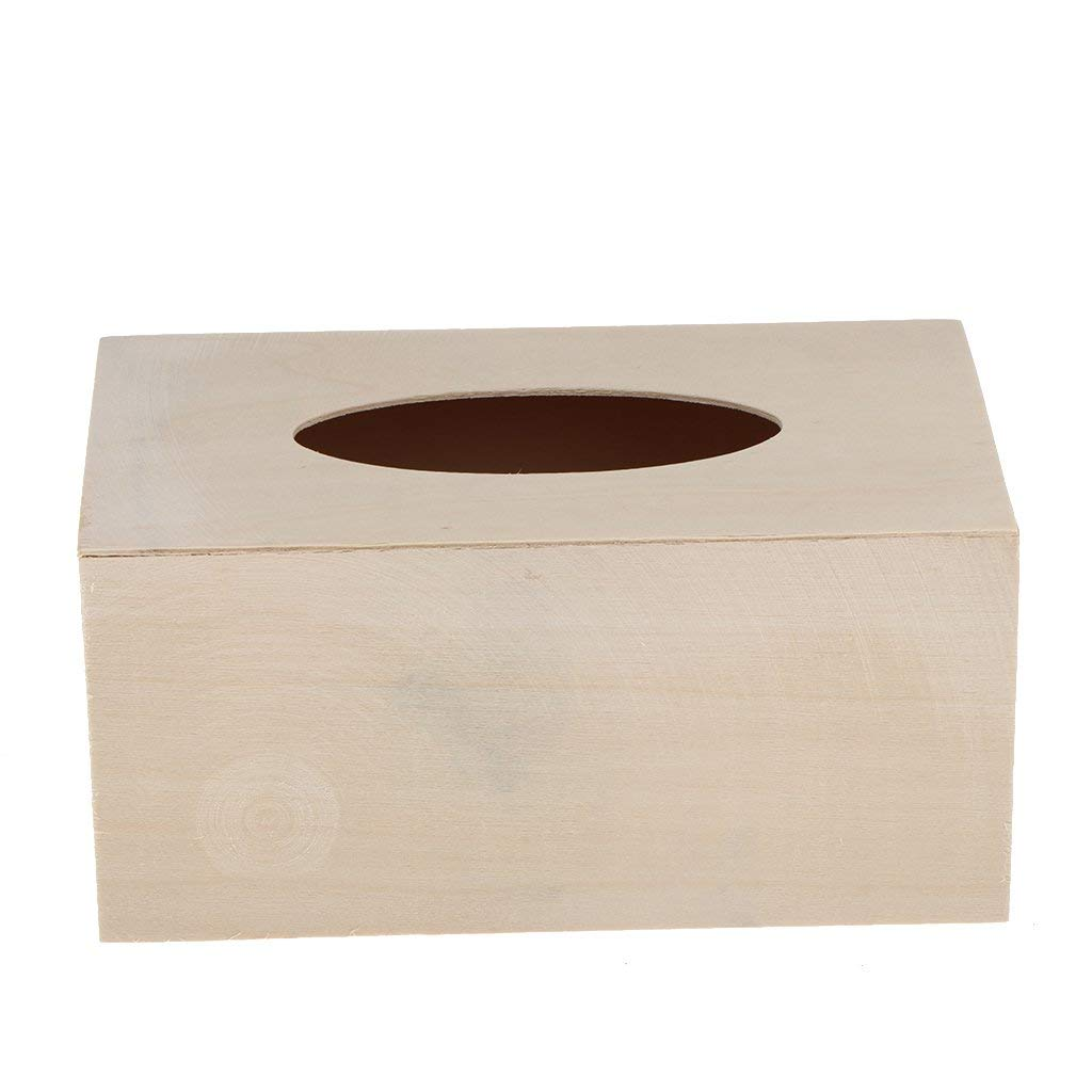 Creative Unfinished Wood Tissue Box Cover Paper Holder Projects Crafting