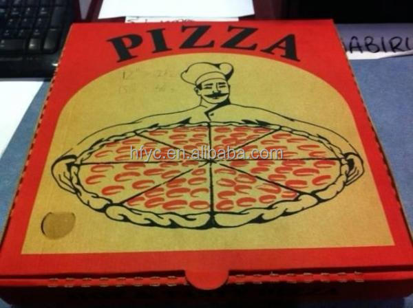kraft food box pizza customized small quantity order accepted OEM