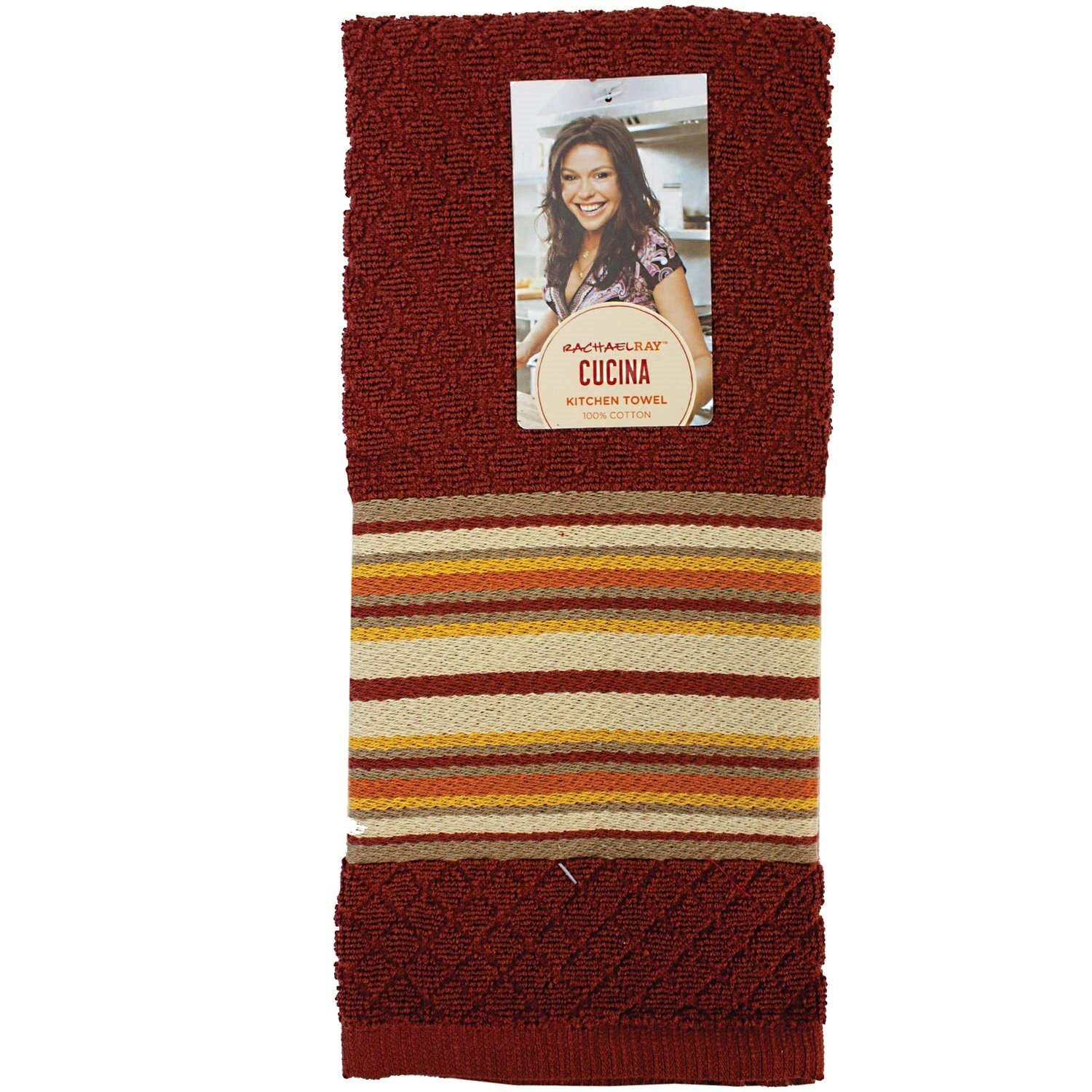 Get Quotations Rachael Ray Cucina Kitchen Towels 100 Cotton Ultra Absorbent Red