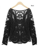 lace shirt ladies long sleeve t-shirt women tops blouse