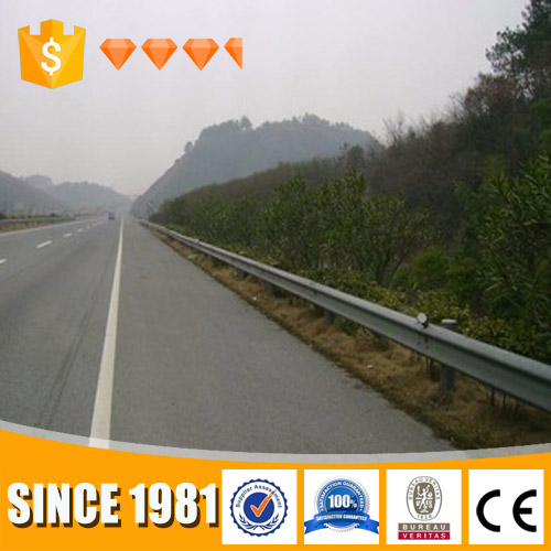 W beam crash barrier / galvanized highway guardrail