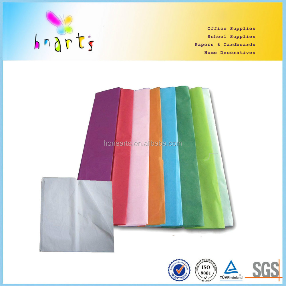 17gsm mf acid free colorfull tissue paper for craft
