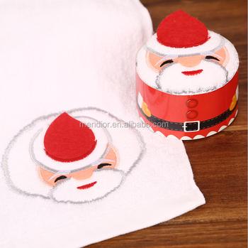 Mendior novelty christmas cake towel crafts Hot sale gift basket towel cake OEM