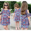 Big yards short paragraph strapless print dress latest children frocks designs dresses for girls of 10