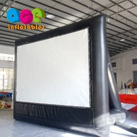 Customized Size outdoor commercial advertising show inflatable movie screen