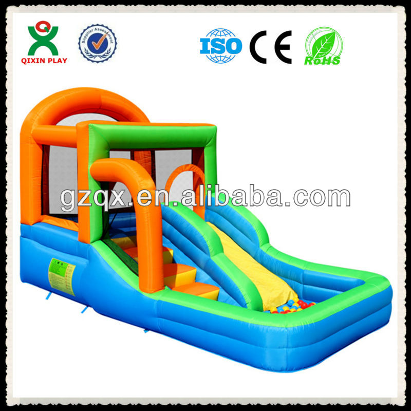 2014 Fantastic&Cheap bouncy castle/inflatable slide/bouncing castle QX-11093E
