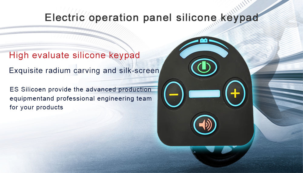 Custom Conductive Silicone Rubber Control Keypad Rubber Button Key Pad