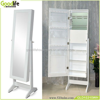 Over Door And Standing Full Mirror Jewelry Armoire
