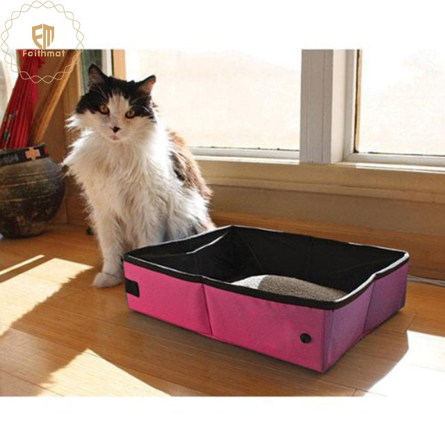 factory price portable outdoor travel high quality cat pet litter box easy clean box