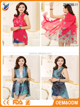 Beach pareo flower print scarf shawl and scarves swim cover-up supplier china shawl scarf