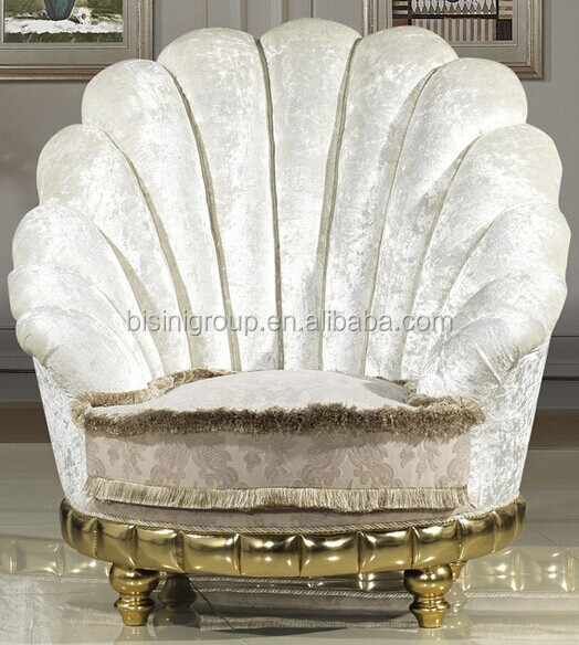 Lovely New Classical Style High Back White Round Sofa One