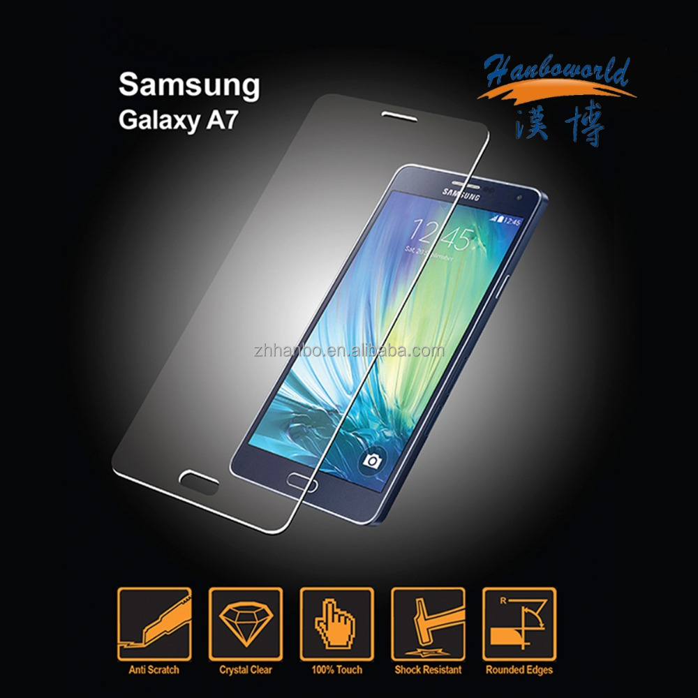 Full cover clear tempered glass for Samsung Galaxy A7 screen protector
