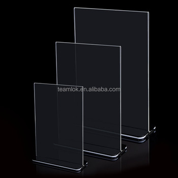 "Acrylic Sign Holders T Shaped Double Sided Plastic Sign Holder 4""X6"" 5""X7"" 8.5""X 11"""